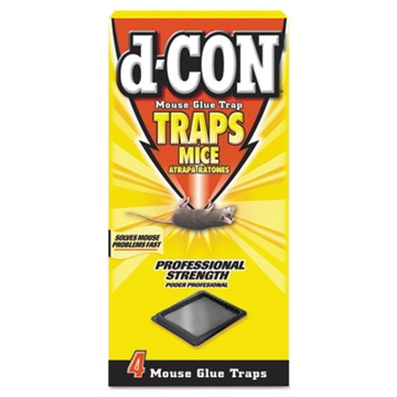 Picture of d-CON Mouse Glue Trap, Plastic, 4 Traps/Pkg