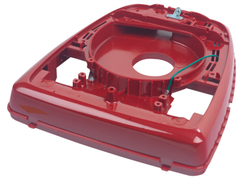 "Picture of Sanitaire Base Assembly - 12"" - Royal Red - Wheels In - 49484-16"