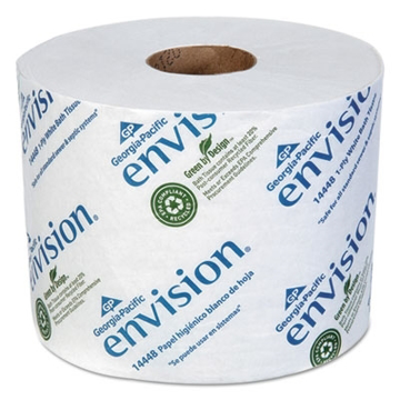 Picture of Georgia Pacific Envision High-Capacity Standard Bath Tissue, 1-Ply, White, 1500/Roll, 48/Carton