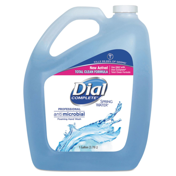 Picture of Dial Professional Antimicrobial Foaming Hand Wash,  Spring Water - 1 Gallon