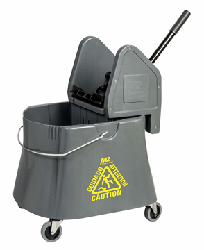 Picture of Elephant Foot Downpress Bucket & Wringer Combo, 40 Quart, Grey