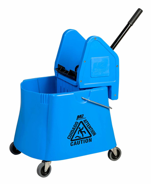 Picture of Elephant Foot Downpress Bucket & Wringer Combo, 40 Quart, Blue