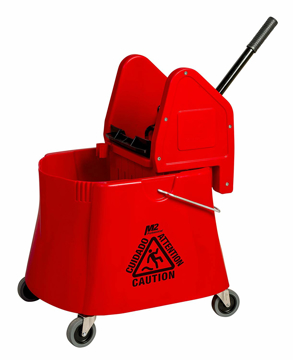 Picture of Elephant Foot Downpress Bucket & Wringer Combo, 40 Quart, Red