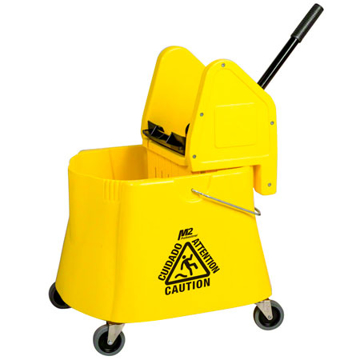 Picture of Elephant Foot Downpress Bucket & Wringer Combo, 40 Quart, Yellow