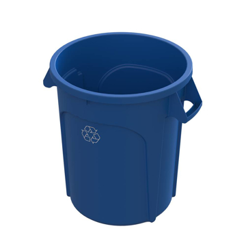 Picture of M2 Professional 32-Gallon Waste Container - Blue Recycling (Each)