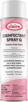 Picture of Claire Disinfectant Spray Q - Country Fresh Scent - 17oz Aerosol
