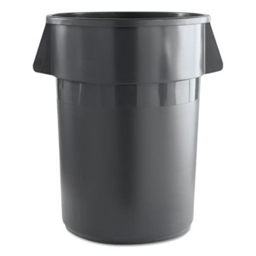 Picture of Boardwalk Round Waste Receptacle, Plastic, 44 Gallon, Gray