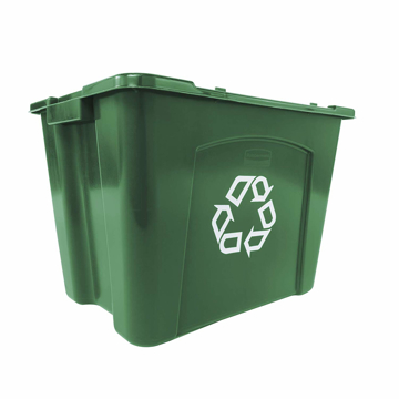 Picture of Rubbermaid Recycling Box 14-Gallon - 5714-73 (Green)