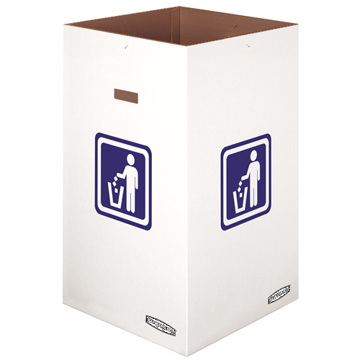 "Picture of Fellowes Waste and Recycling Bin, 42 Gallon, 18"" x 18"" x 30"", White, 10/Carton"