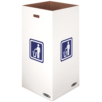 "Picture of Fellowes Waste and Recycling Bin, 50 gal, 18"" x 18"" x 36 3/8"", White, 10/Carton"