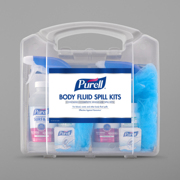 Picture of Purell Body Fluid Spill Kit - Clamshell Case with 2 Single Use Kits