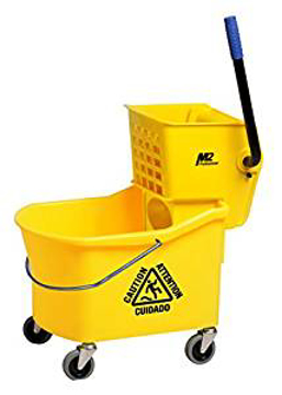 Picture of Grizzly Sidepress Bucket & Wringer Combo, 32 Quart, Yellow