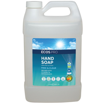 Picture of ECOS PRO Hand Soap, Free & Clear - 4/1 Gallon Bottles