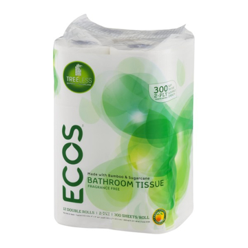 Picture of ECOS Treeless Bathroom Tissue 300 Sheet 2-Ply /Roll (72 Rolls per Carton)