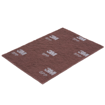 "Picture of 14"" x 28"" Maroon 3M Surface Preparation Pad Sheet - 10 Pack"