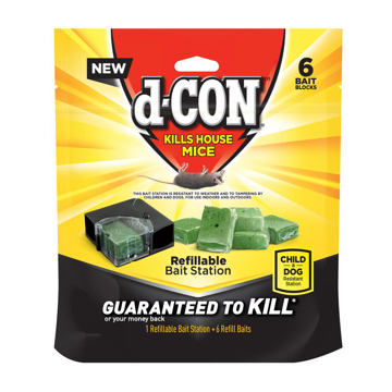 Picture of d-CON Refillable Bait Station and Refills - 1 Bait;6 Refills/Box