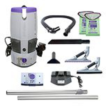 Picture of Pro-Team GoFree Flex Pro, 6 qt. Cordless Vacuum w/ ProBlade Hard Surface & Carpet Tool Kit - GFFP107541