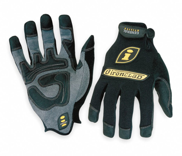 Picture of Ironclad Performance Wear General Utility Spandex Gloves, Black - Large, Pair