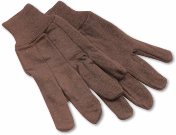 Picture of Boardwall Jersey Knit Wrist Clute Gloves - One Size Fits Most, Brown, 12 Pairs/Pkg