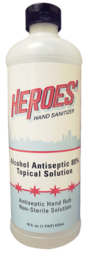 Picture of Heroes' Hand Sanitizing Rub - 16oz Flip Top Bottle