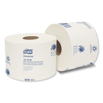 Picture of TORK Universal Bath Tissue Roll with OptiCore, Septic Safe, 2-Ply, White, 865 Sheets/Roll, 36 Rolls/Carton - 161990